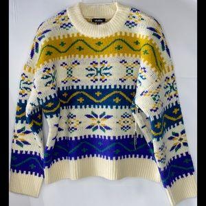 Mardi Gras Sweater Large Long Sleeve Brand New!